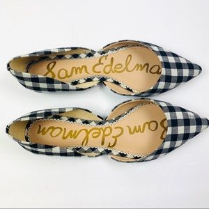 Sam Edelman | Pointed Toe Gingham Flats